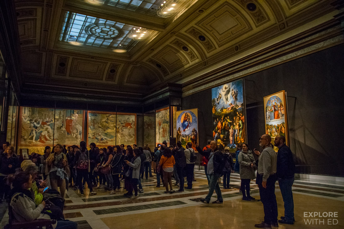 Religious paintings and tapestries in the Vatican Museum archives