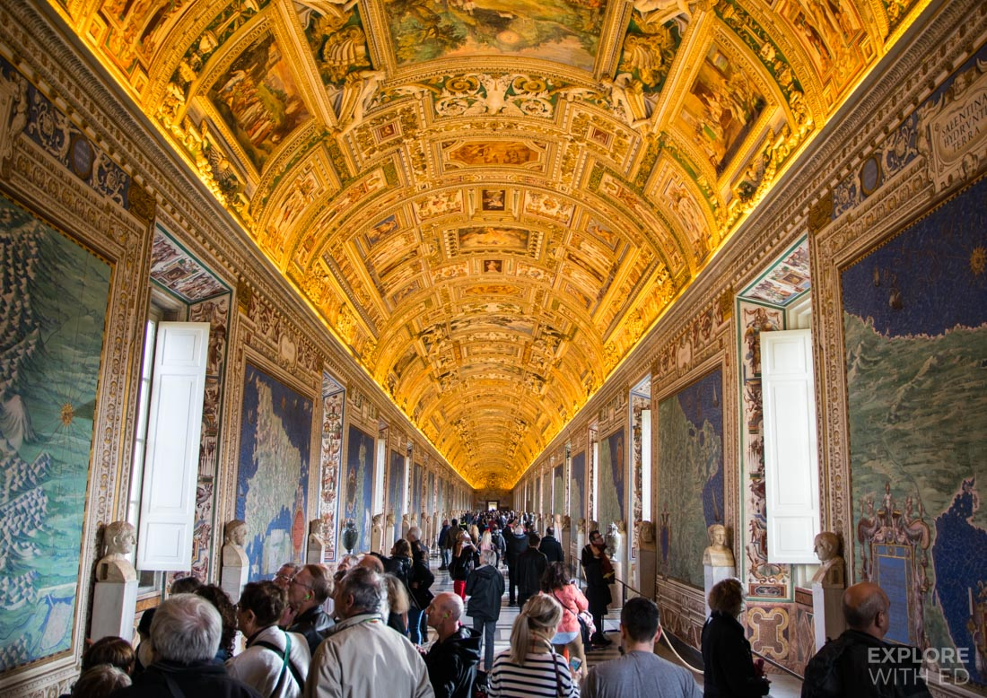 The Hall of Maps in Vatican Museum