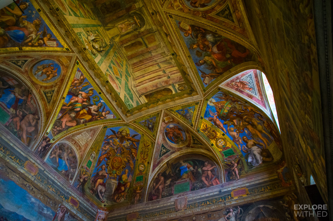 Beautiful painted rooms in Vatican Museum
