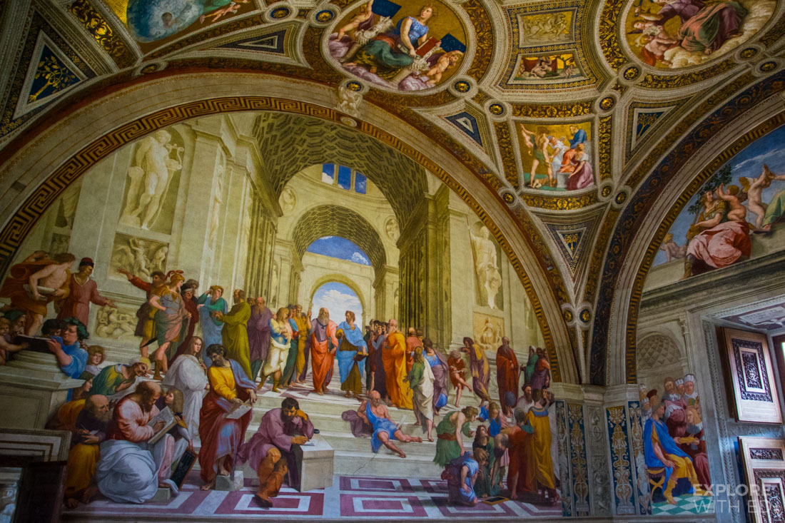 School of Athens by Raphael, Famous artworks inside Vatican Museum