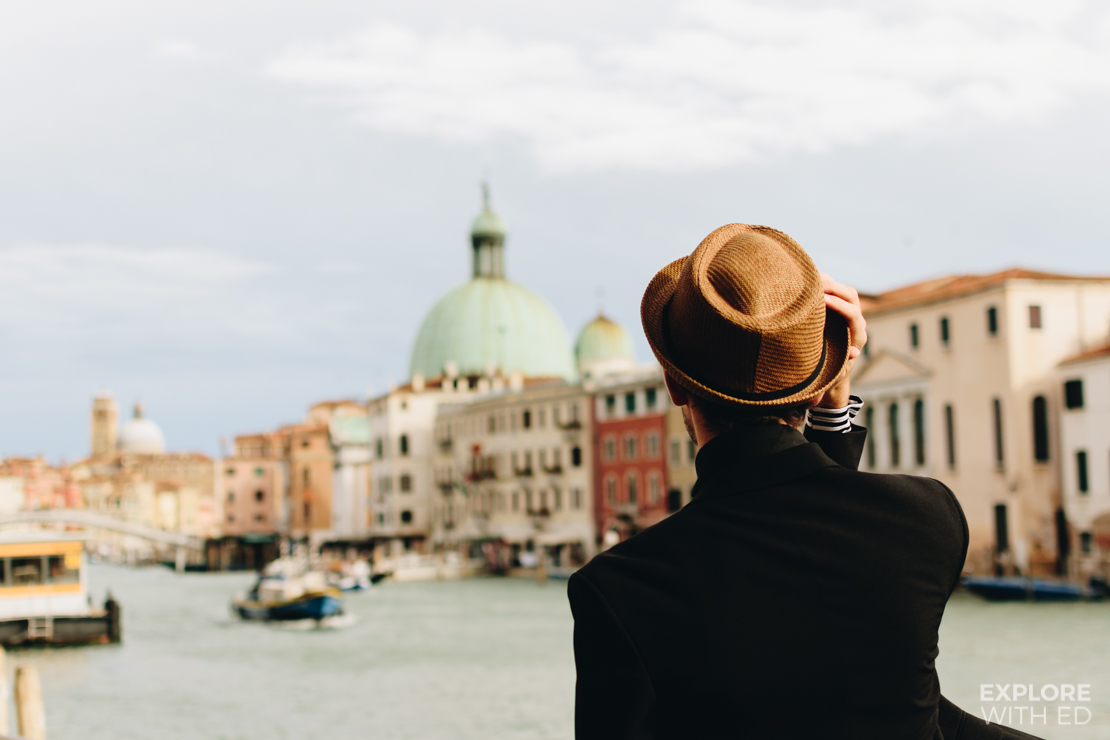 Travel blogger Explore With Ed sightseeing in Venice along the Grand Canal