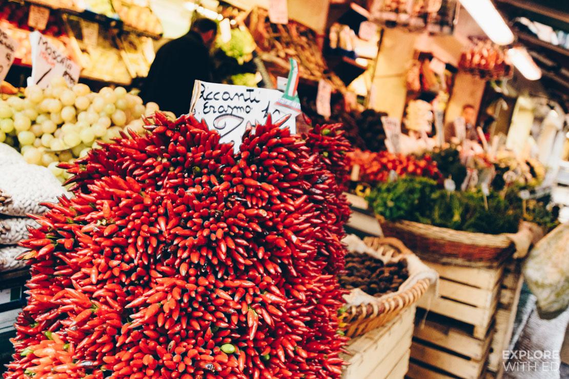 Vegetable market stall in Venice
