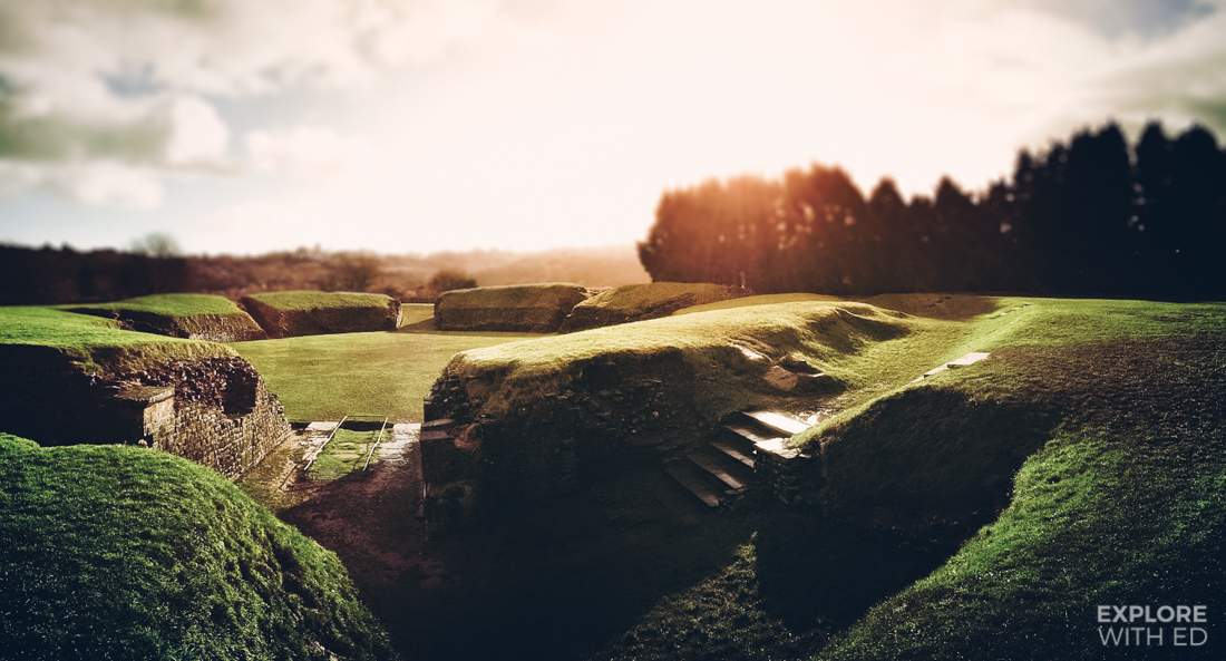 Caerleon Amphitheatre Remains