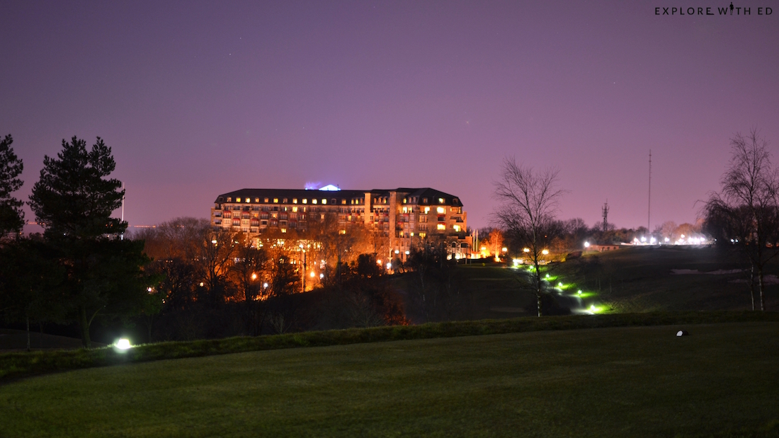 The Celtic Manor at night