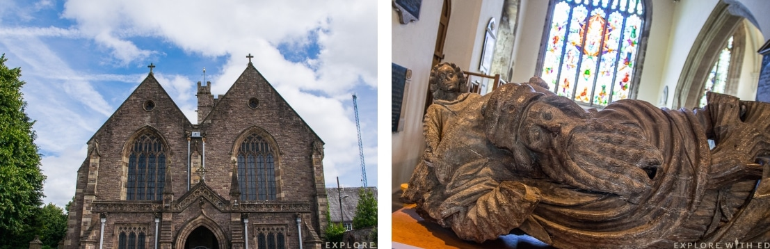 St Mary's Priory Church, Jesse sculpture and window