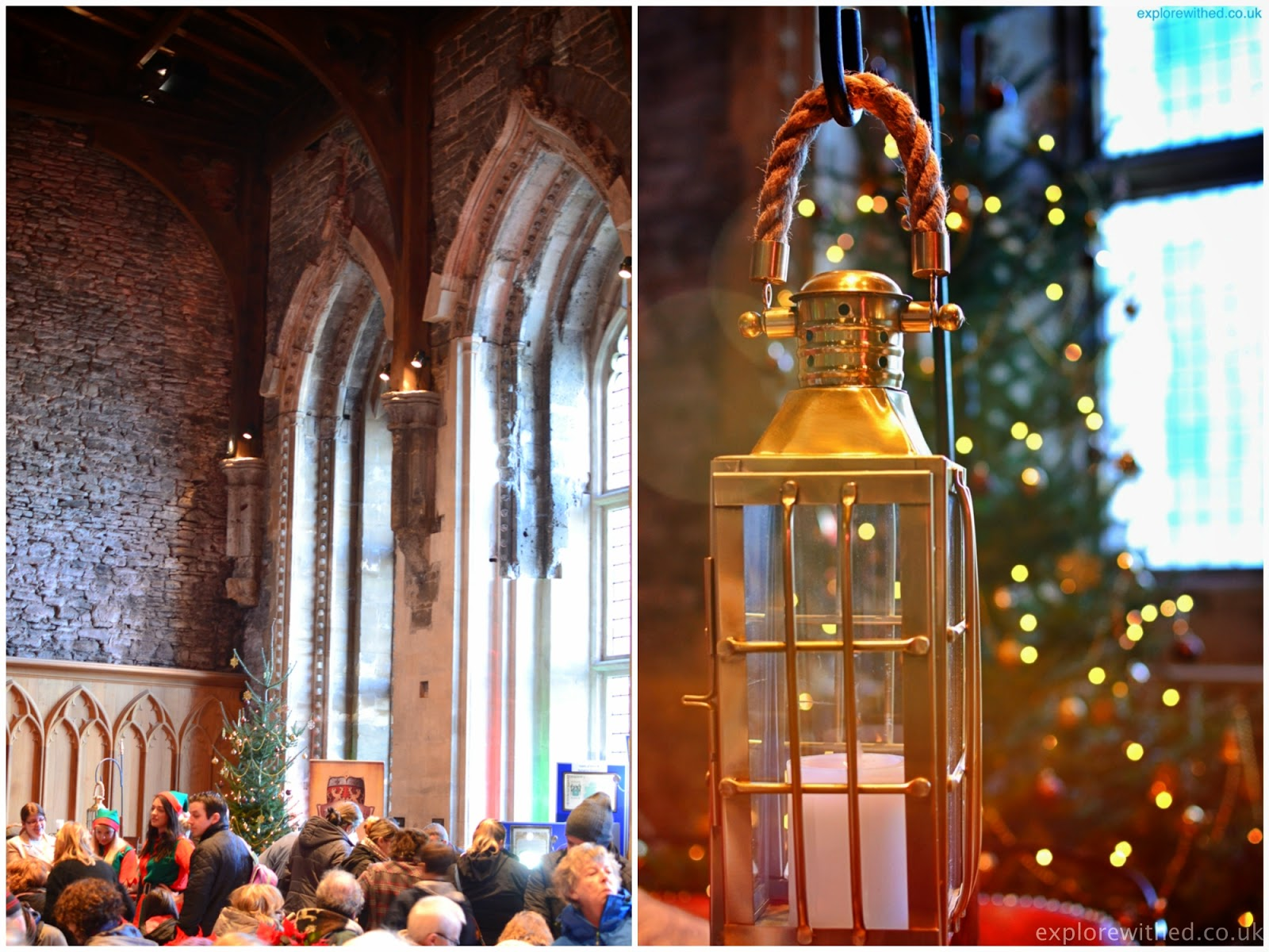 Caerphilly Castles Main Hall during A Christmas Event
