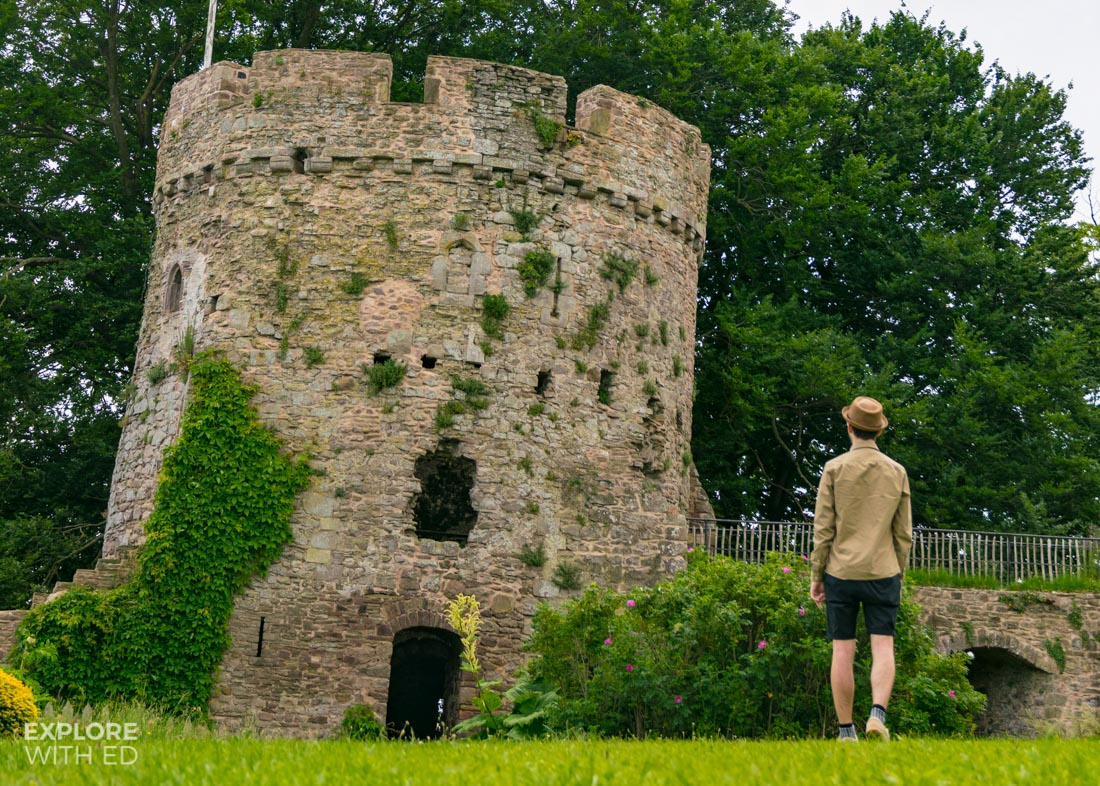 Exploring Usk Castle