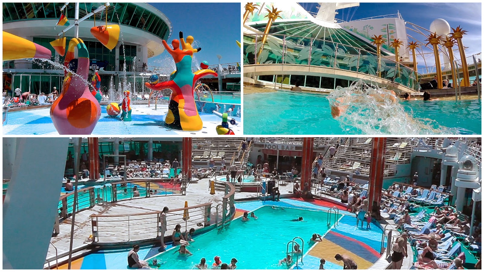 Pool areas onboard Independence of the Seas