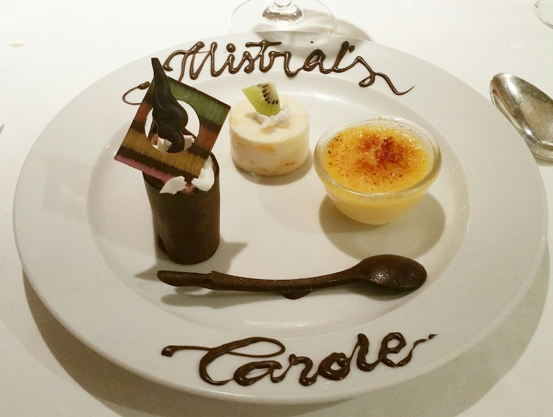 Trio of puddings on Marella Dream