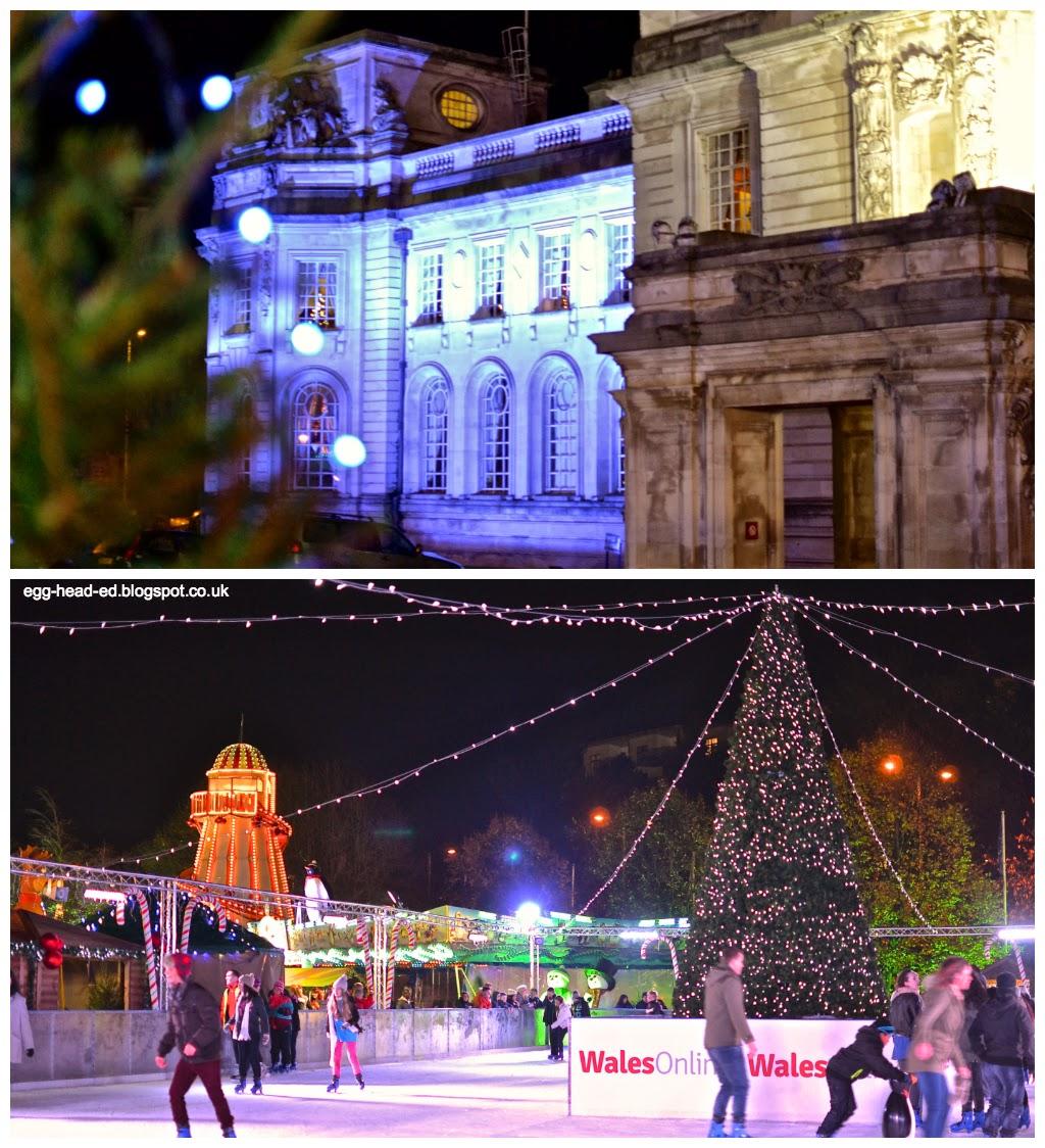 City Hall Cardiff at Christmas